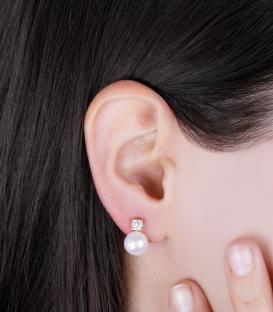"""Pendientes """"Pearly"""" Oro 18k Perlas Cultivadas"""