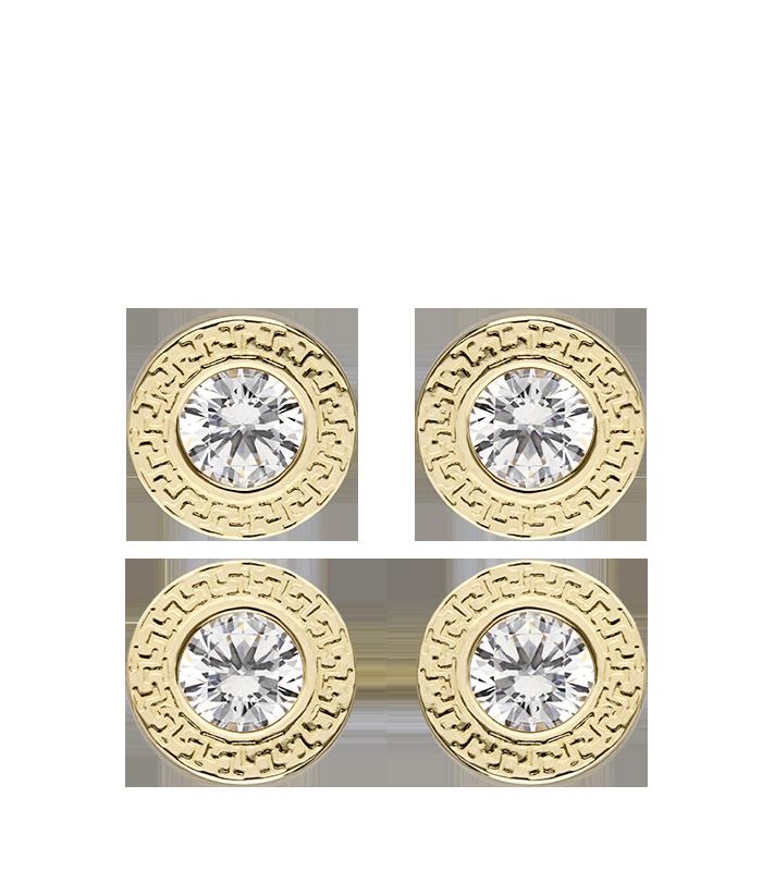 Pendientes Oro 18k Greco Circonita