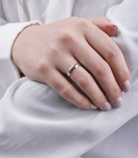Alianza Oro 18k Blanco 4 mm Wedding Classic
