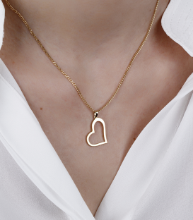 Corazón plano Oro 18k