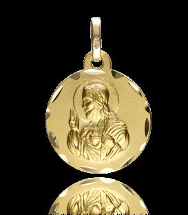 Medalla Sagrado Corazón de Jesús Oro 18k