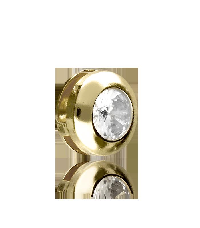 Colgante chatón Oro 18k y circonita