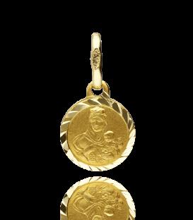 Medalla tipo escapulario de doble cara para bebé