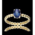 """Anillo """"Candy"""" Oro 18k y Topacio Azul London Blue"""