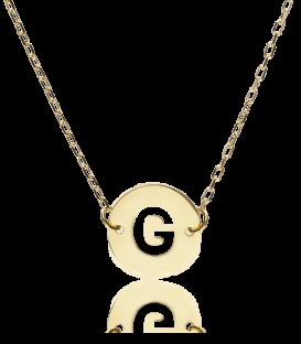 "Gargantilla ""Abc"" Oro 18K Inicial G"