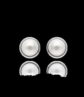 Pendientes Plata y Perlas