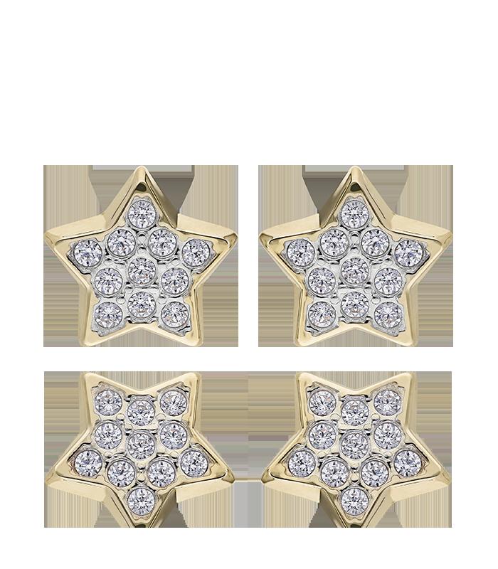 Pendientes Oro Estrellas