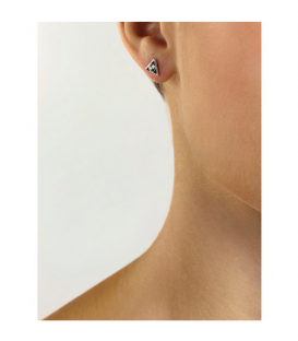 PENDIENTES GUESS TRIÁNGULO QUEEN OF HEART UBE79012