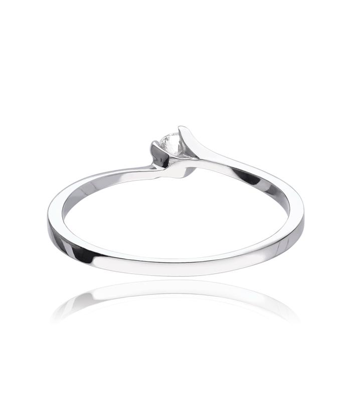 """Anillo """"Tarento"""" Oro Blanco 18k y diamante 0.10 cts"""