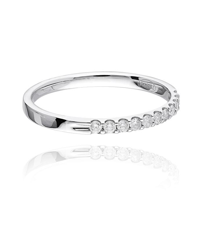 Anillo Oro Blanco 18k y Diamantes 0.20 cts