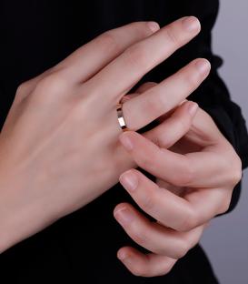 Alianza Oro 18k Amarillo 2.5 mm Wedding Classic Plana