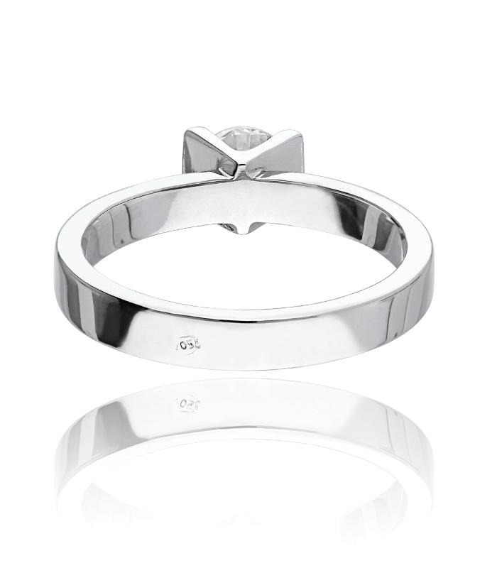 """Anillo """"Fiumicino"""" Oro Blanco 18k y Diamante 0,55 cts"""