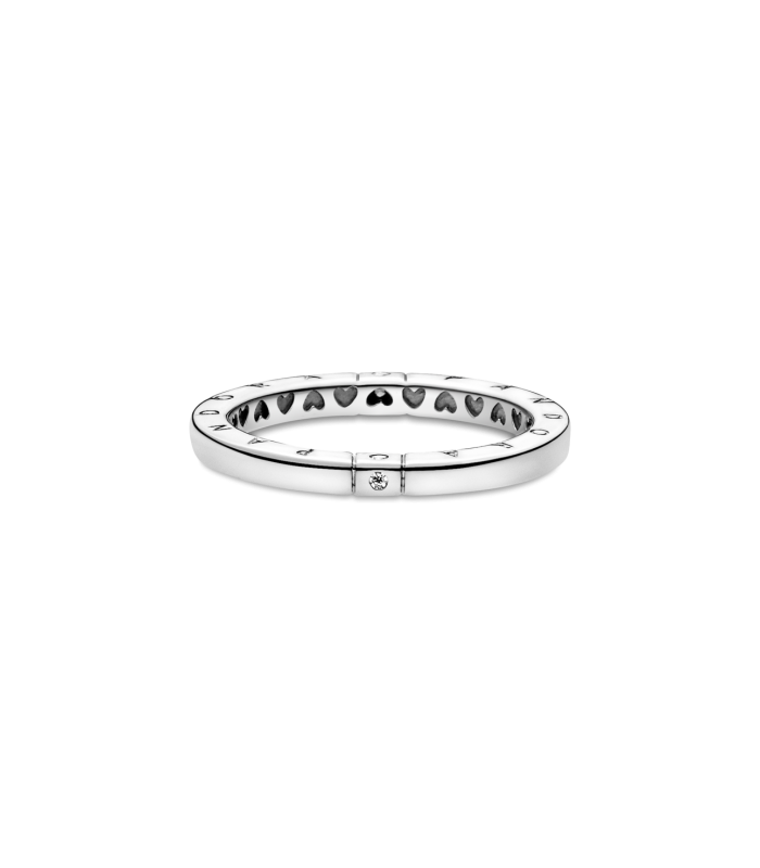 Anillo Pandora en Plata de ley Logo y Corazones 199482C01