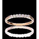 """Anillo """"Údine"""" Oro Rosa 18k y Diamantes 0.15 cts"""