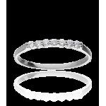 """Anillo """"Údine"""" Oro Blanco 18k y Diamantes 0.15 cts"""