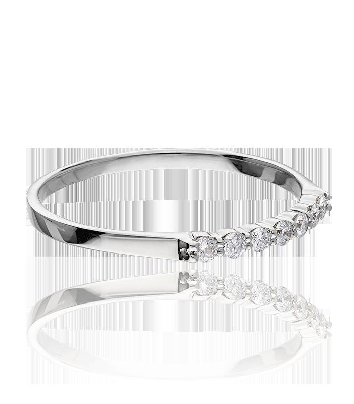 Anillo Oro Blanco y 7 Diamantes