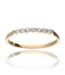 "Anillo ""Údine"" Oro Amarillo 18k y Diamantes 0.15 cts"