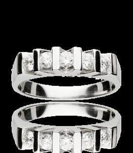 Anillo Oro Blanco Diamantes 0.50 cst