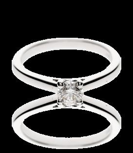 Anillo Oro Blanco con diamante Carla