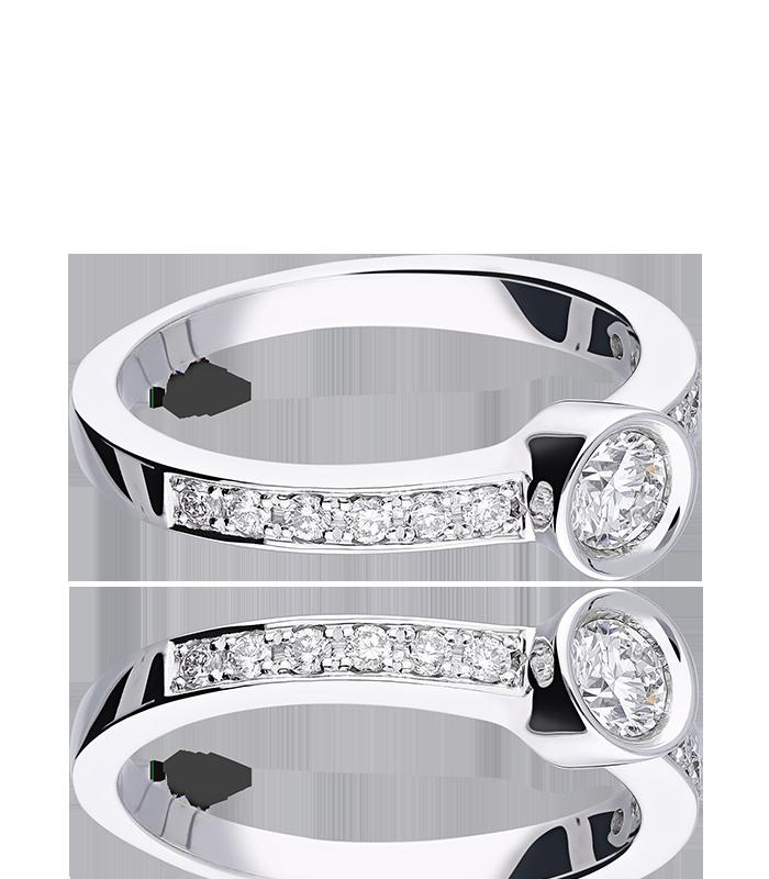 """Anillo """"Lombardía"""" Oro Blanco 18k y Diamantes 0.45 cts"""