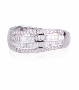 Anillo diamantes 3 carriles