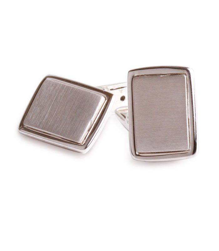 Gemelos de plata rectangulares
