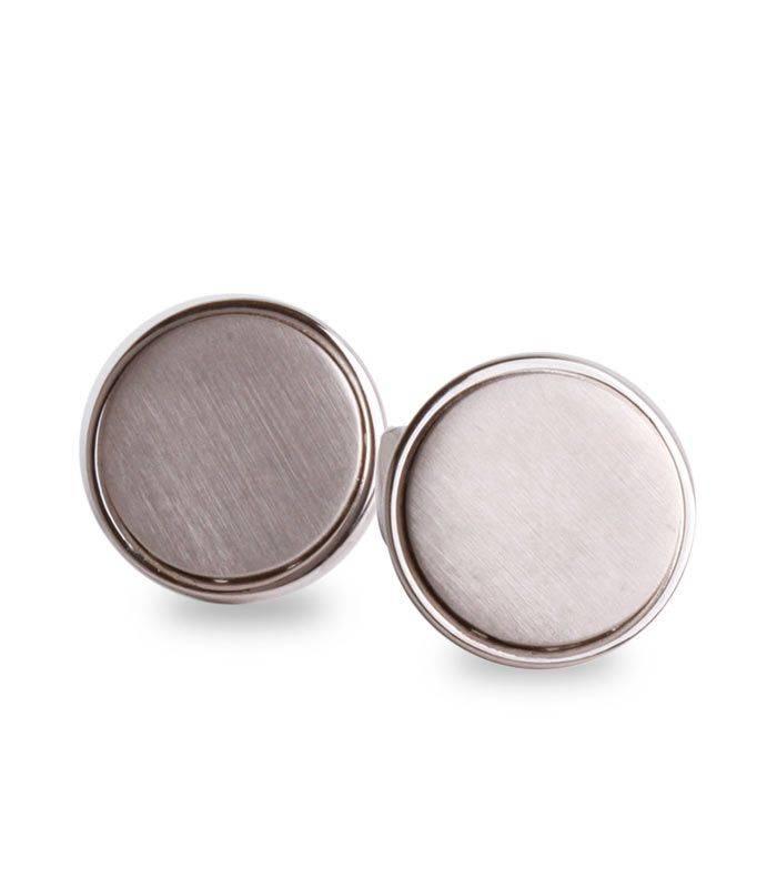 Gemelos de plata redondos