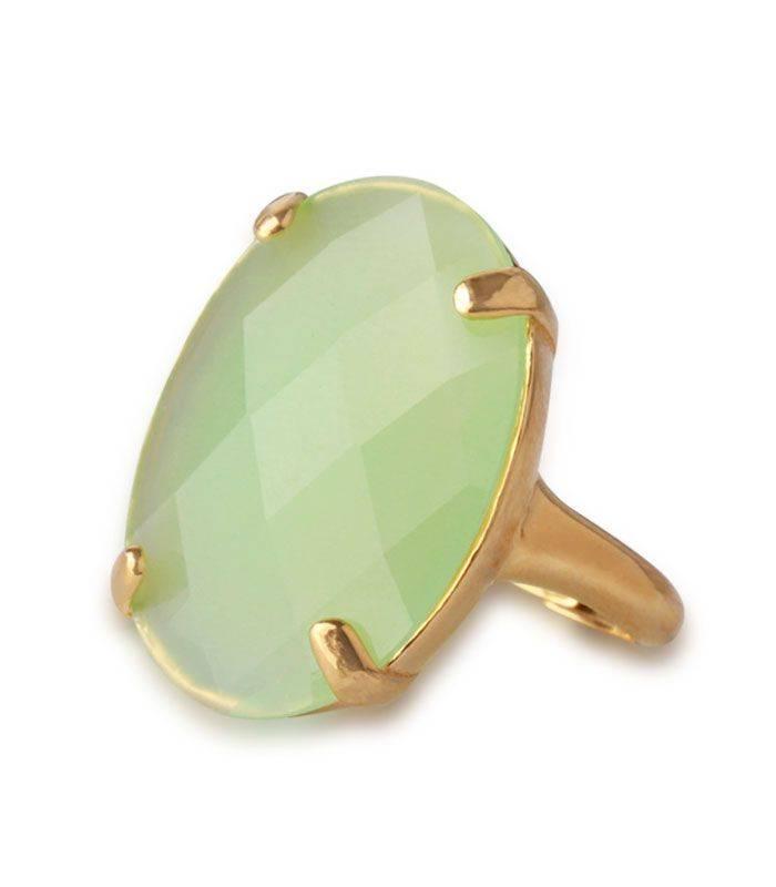 Anillo Plata con Piedra Verde