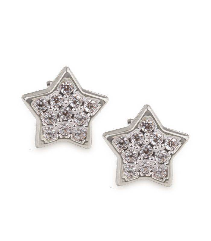 Pendientes Oro Blanco Estrella
