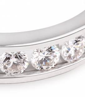 Anillo Oro Blanco con diamante