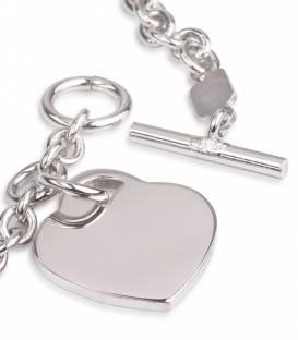 Pulsera Plata y Corazón
