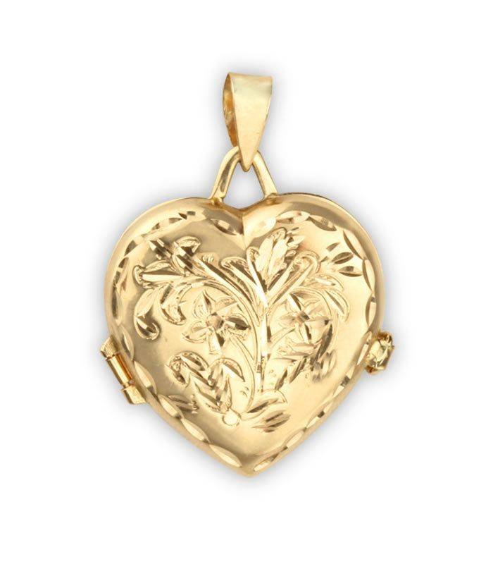 e86a415e37ca Colgante oro guarda foto corazón