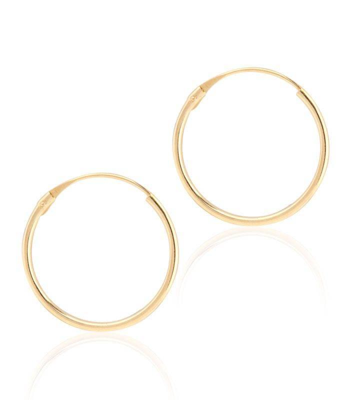 Pendientes de Oro Aro 13x1 mm