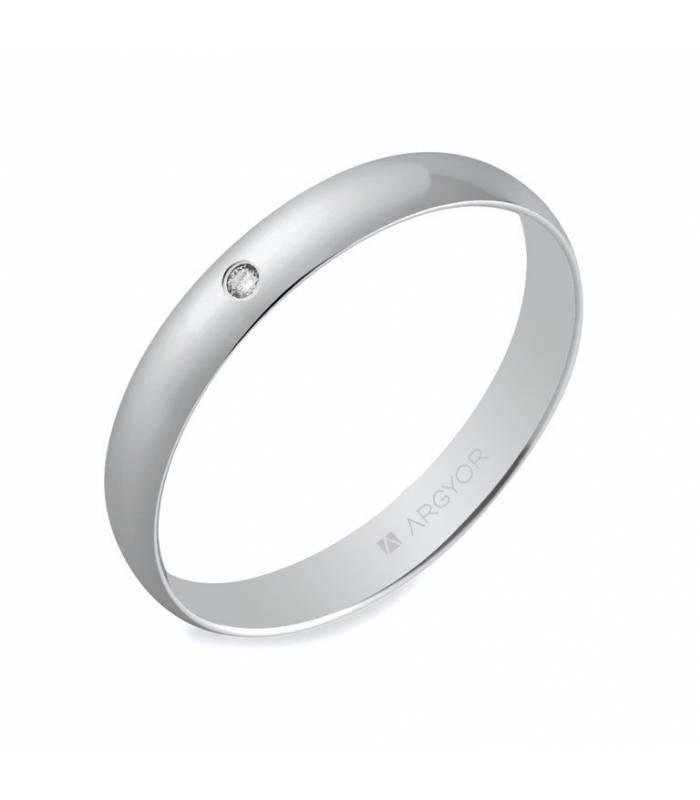Alianza de boda oro blanco 5B302D