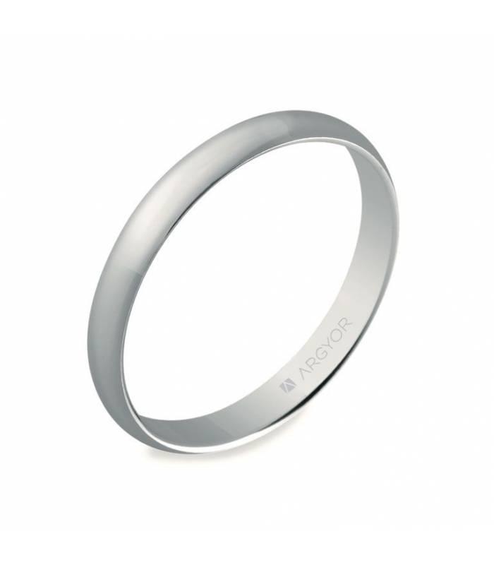 ALIANZA MOD. 5B305. Alianza de boda oro blanco 5B305