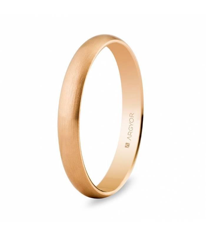 Alianza de boda oro rosa 5C305S