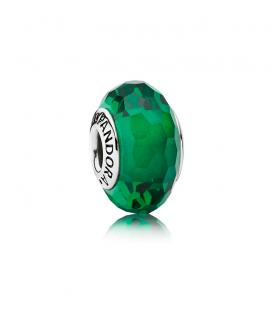 Charm Forestal cristal facetado verde 791619