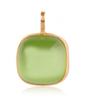 Colgante Oro Piedra Verde