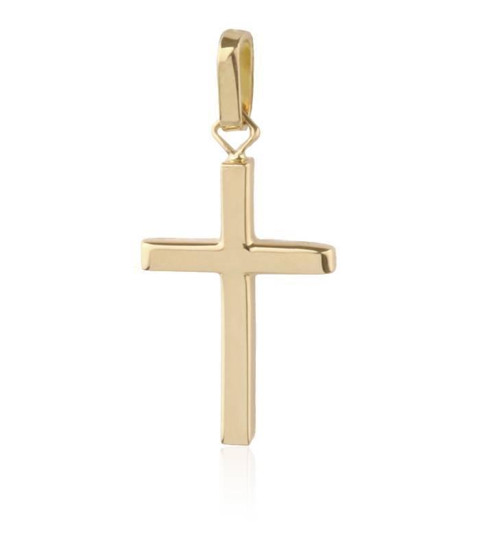 Colgante cruz oro 18k