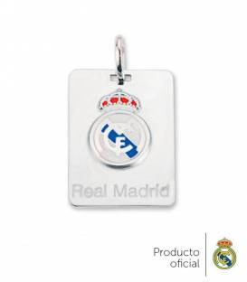 Colgante placa Real Madrid plata de ley