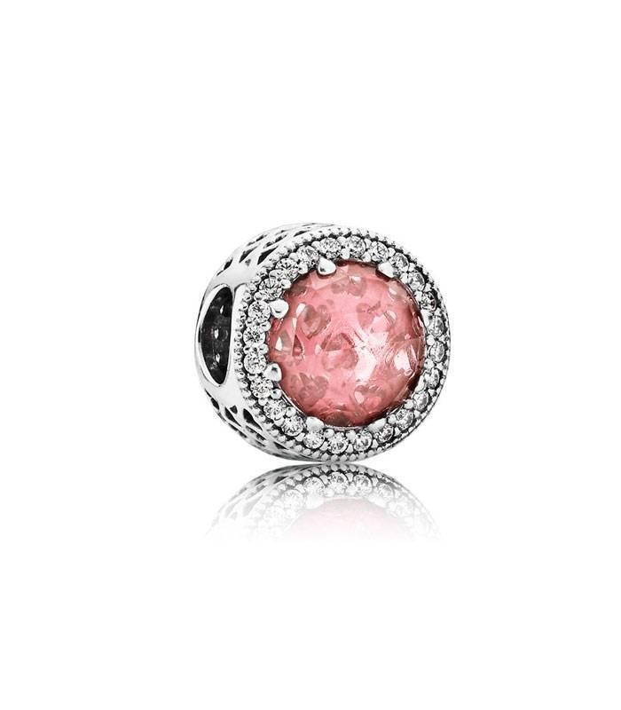 Charm Corazón Radiante Rosa 791725NBP