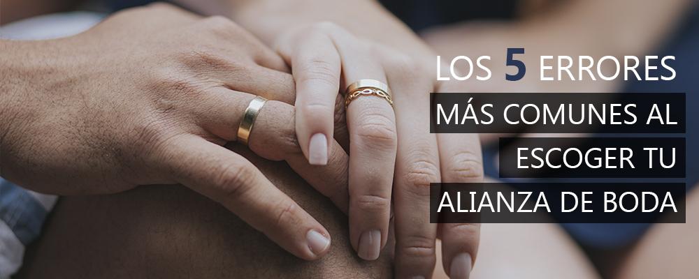 los 5 errores más comunes al escoger tu alianza de boda
