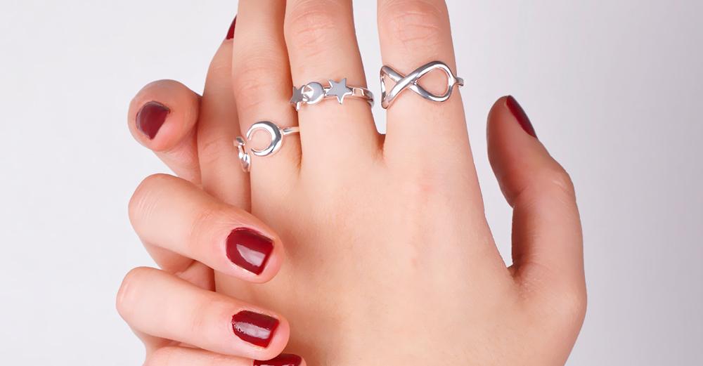 Joyas anillos en plata de primera ley