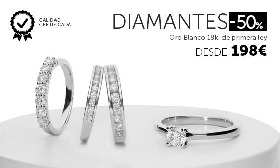 Anillos con diamantes caliada certificada
