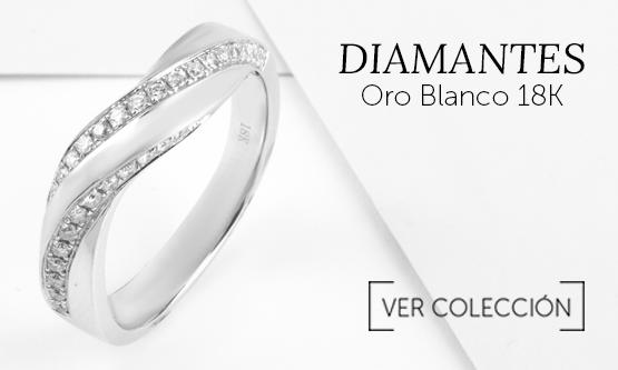 El anillo de compromiso que buscas, diamantes y oro blanco 18k en Joyerías Sánchez